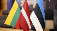Baltijos valstybių vėliavos (nuotr. Fotodiena.lt/Roberto Dačkaus)