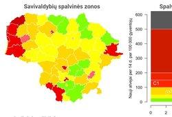 Oficialu: visa Lietuva grįžo į raudonąją COVID-19 zoną