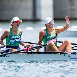 Skirtingai finišavusios Lietuvos dvivietės: moterys tikėjosi geriau, vyrai karščio nekaltino