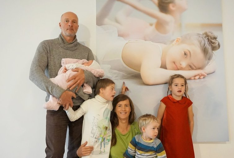 Didelė ir graži Rugilės šeima. Aldonos Milieškienės nuotr.