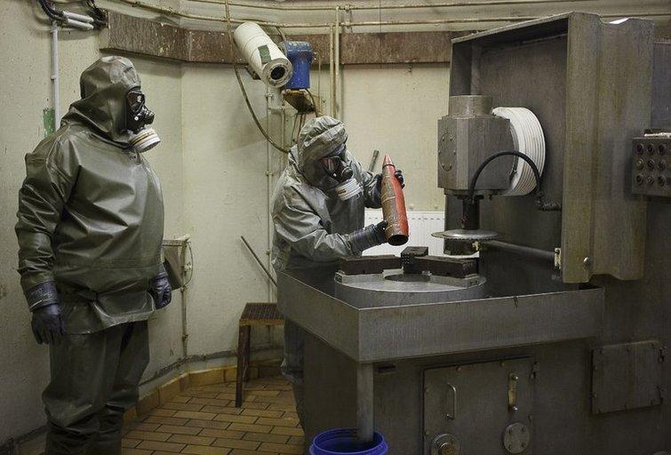 OPCW Sirijoje liko patikrinti tik vieną cheminių ginklų saugyklą (nuotr. SCANPIX)