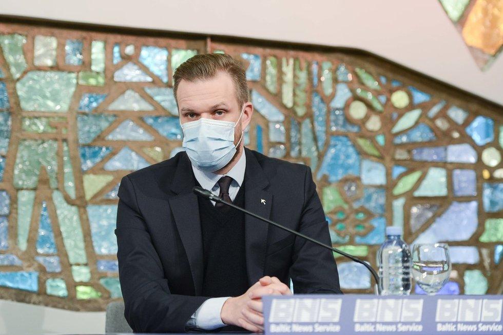 Rytas po rinkimų – TS-LKD spaudos konferencija (nuotr. Fotodiena/Justinas Auškelis)