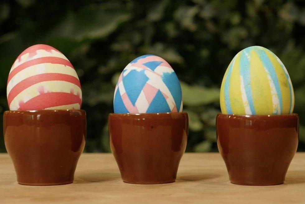 Lipnia juostele marginti kiaušiniai (nuotr. stop kadras)