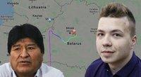 Kuo skiriasi 2013-ųjų atvejis Austrijoje ir civilių lėktuvo užgrobimas Baltarusijoje? (nuotr. SCANPIX) tv3.lt fotomontažas
