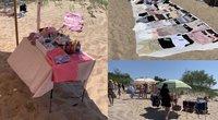 Palangos moterų paplūdimyje veikia turgelis (tv3.lt fotomontažas)