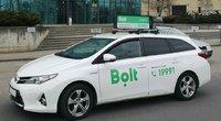 """Bolt"" įmonės automobilis (nuotr. bendrovės)"