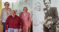 65 metai kartu – nuo tos dienos, kai vienas kitam ištarė TAIP. Tokią santuokos sukaktį birželio 5-ąją minėjo Juozas ir Joana Rupšiai (nuotr. asm. archyvo)