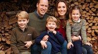 Princas Williamas ir Kate Middleton su vaikais: princais George'u ir Louisu ir princese Charlotte (nuotr. SCANPIX)