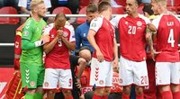 Per futbolo rungtynes suklupo Danijos futbolininkas Christianas Eriksenas (nuotr. SCANPIX)