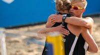 Sensaciją olimpinėje atrankoje pateikę Lietuvos paplūdimio tinklininkai liko per tašką nuo antro stebuklo. (nuotr. CEV)
