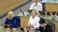 Seime vyksta neeilinė sesija dėl nelegalių migrantų. (Fotodiena/ Viltė Domkutė)