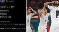 Neįtikėtina: internautas idealiai nuspėjo Italijos ir Turkijos rungtynių baigtį. (nuotr. Twitter)