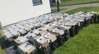 Šalčininkų rajone pasieniečiai sulaikė 200 tūkst. eurų vertės cigarečių krovinį (nuotr. VSAT)