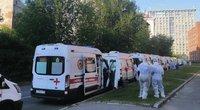 Vaizdo įrašas atskleidė, kaip Rusijai nesiseka kovoti su pandemija: pacientai guli tiesiog koridoriuose (nuotr. stop kadras)