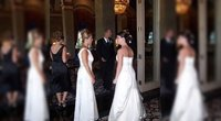 Anyta vestuvėse pasirodė su vestuvine suknele (tv3.lt fotomontažas)