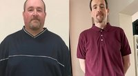 Philas Kayes (47) iš Šiaurės Airijos anksčiau valgydavo greitą maistą ir per dieną išgerdavo pusantro litro pieno, bet dabar jis pradėjo savo kelionę į lieknėjimą  (nuotr. facebook.com)