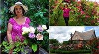 Irenos sodas stebina ir visko mačiusius – rožių krūmų beveik 200 (nuotr. asm. archyvo)
