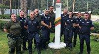 Darbą Lietuvos pasienyje su Baltarusija pradėjo dešimt Estijos pareigūnų (nuotr. VSAT)
