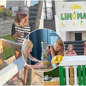 Per karščius mažametės vilnietės stebina kaimynus: jų idėja tirpdo širdis