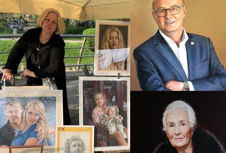 A. Lopuchos-Vinauskienės kūryba stebina ne vieną: portretų realistiškumas atima žadą (nuotr. tv3.lt)