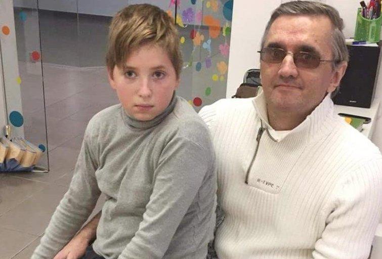 Rolandas Godliauskas su sūnumi Luku. (nuotr. asm. archyvo)