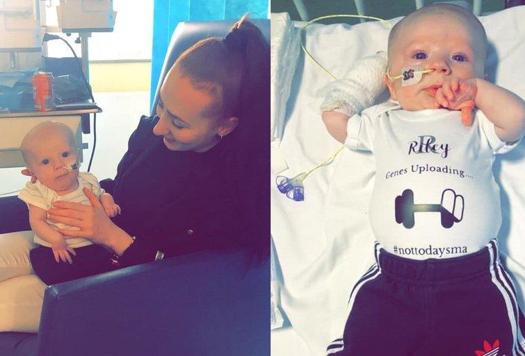 Mažylio Riley gyvybę išgelbėjo brangiausias pasaulyje vaistas (nuotr. facebook.com)