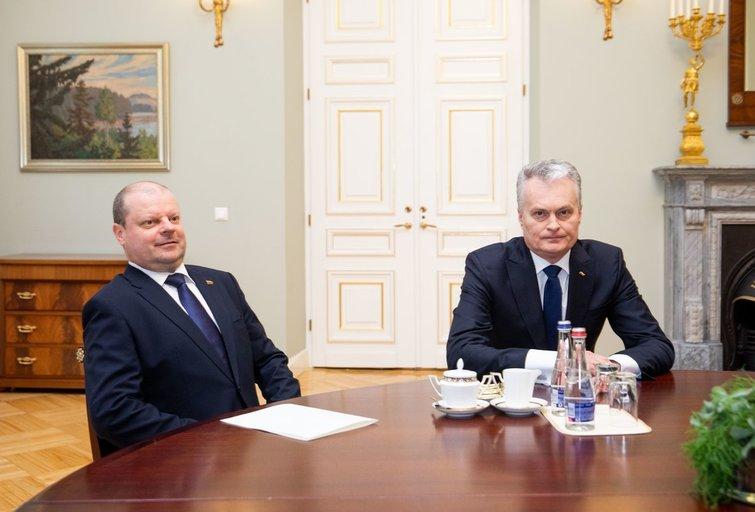 Saulius Skvernelis ir Gitanas Nausėda (Irmantas Gelūnas/Fotobankas)