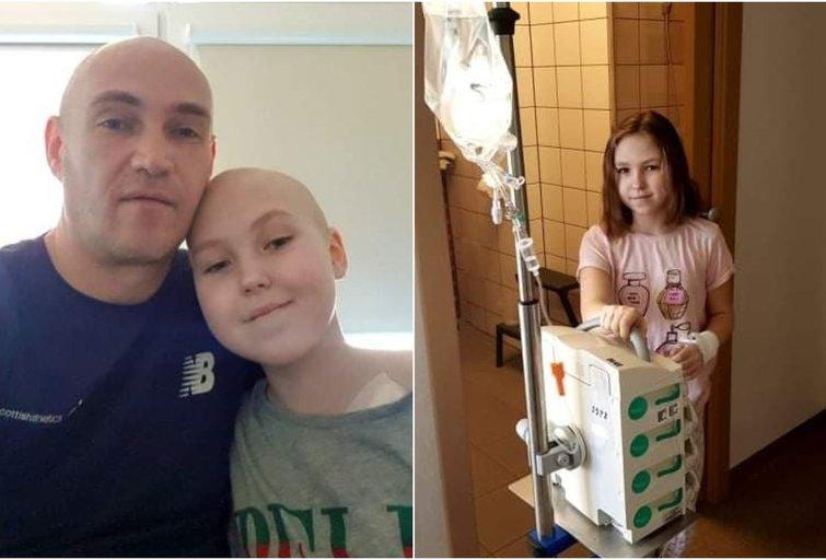 Su vėžiu kovojančią Emiliją padrąsino plaukus plikai nusiskutęs tėtis (nuotr. asm. archyvo)