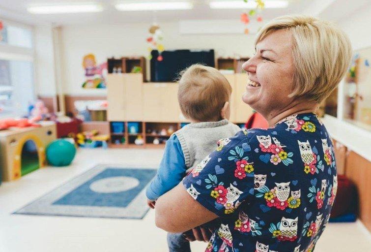 Klaipėdos sutrikusio vystymosi kūdikių namuose teikiama atokvėpio paslauga sunkios negalios vaikams. Klaipėdos sutrikusio vystymosi kūdikių namų archyvo nuotr.