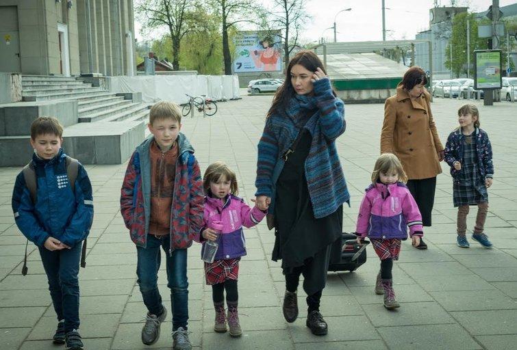 S. Daukantaitė su savo vaikais(Nuotr. Agnė Matilionytė)