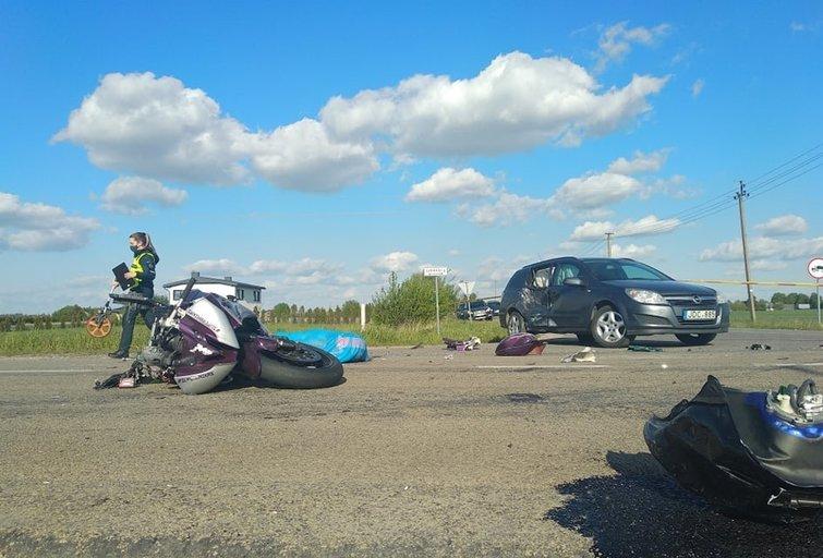 Kauno rajone žuvo motociklininkas (nuotr. Vaida Girčė/TV3)