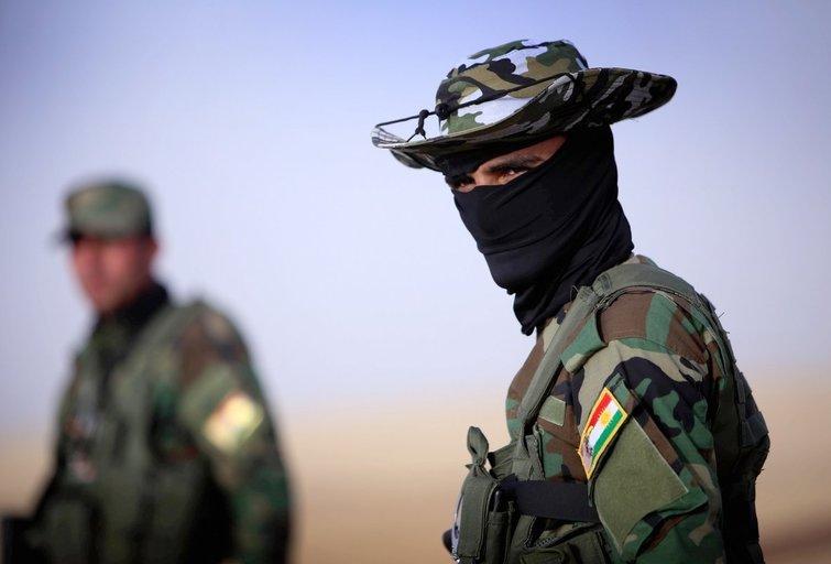 JAV palaikomi pešmergai triuškina džihadistus Irake (nuotr. SCANPIX)