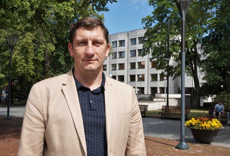 Lygių galimybių kontrolieriaus tarnybos Teisės skyriaus vedėjas Vytis Muliuolis. Aldonos Milieškienės nuotr.