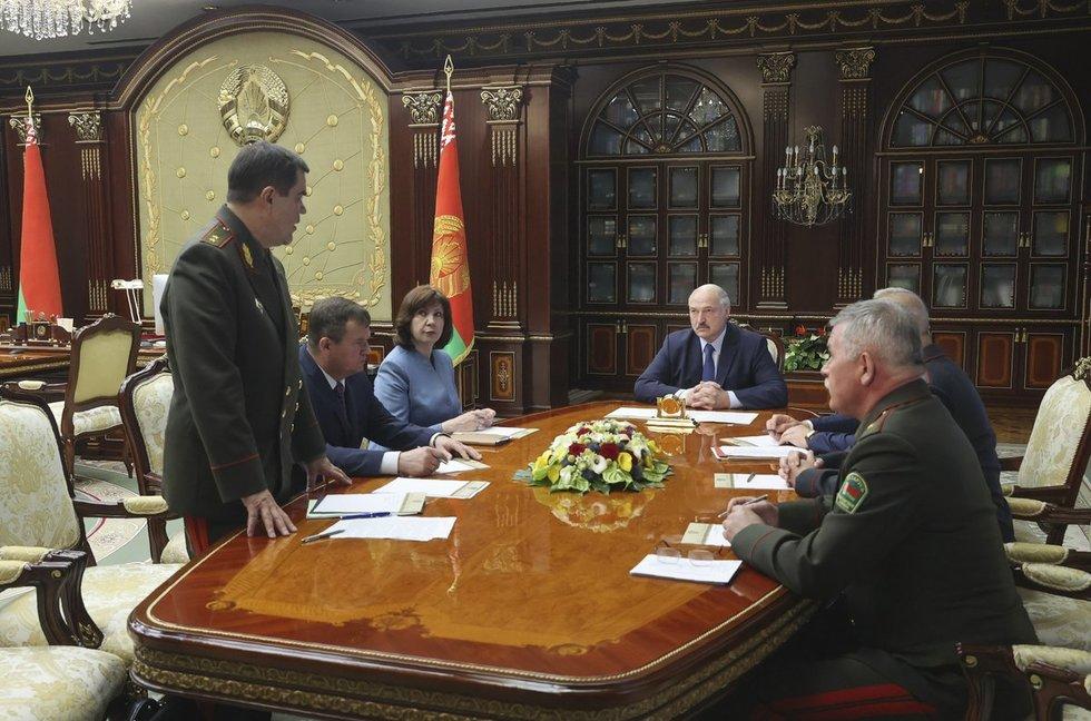 A. Lukašenka liepos 29-ąją išklausė Saugumo Tarybos pranešimą dėl situacijos Minske