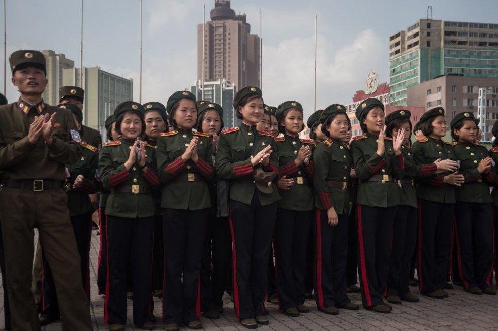 Pasaulis bejėgis prieš tironą mažylį Kimą? (nuotr. SCANPIX)