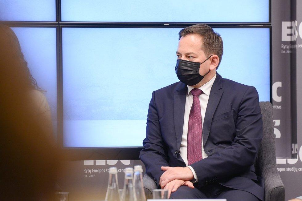 """Diskusija """"Migracijos poveikis nacionaliniam saugumui"""" (nuotr. Fotodiena/Justinas Auškelis)"""