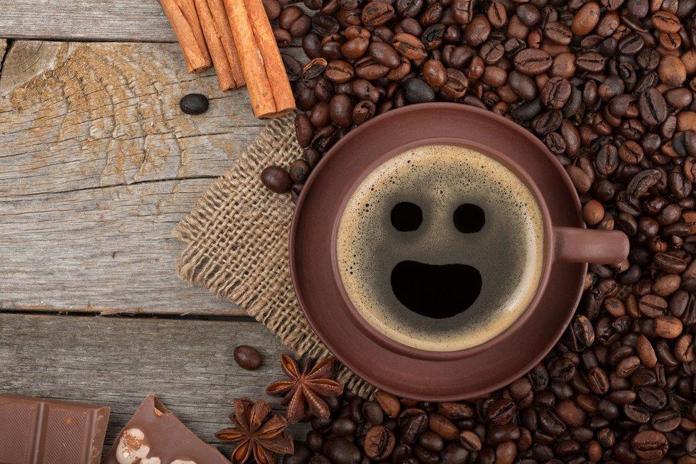 Veidas kavoje