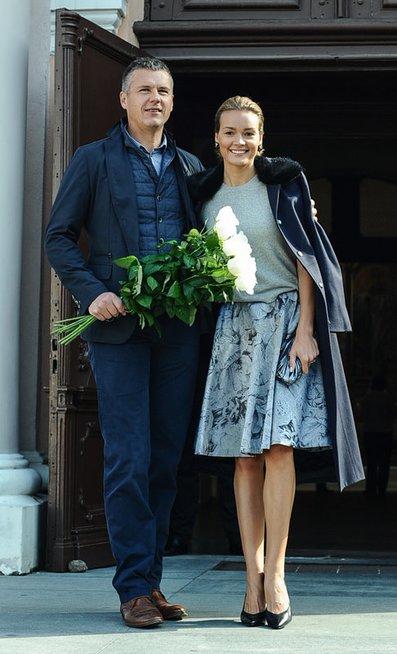 Jurgita Jurkutė-Širvaitė su sutuoktiniu Ryčiu Širvaičiu (nuotr. Eimanto Genio)