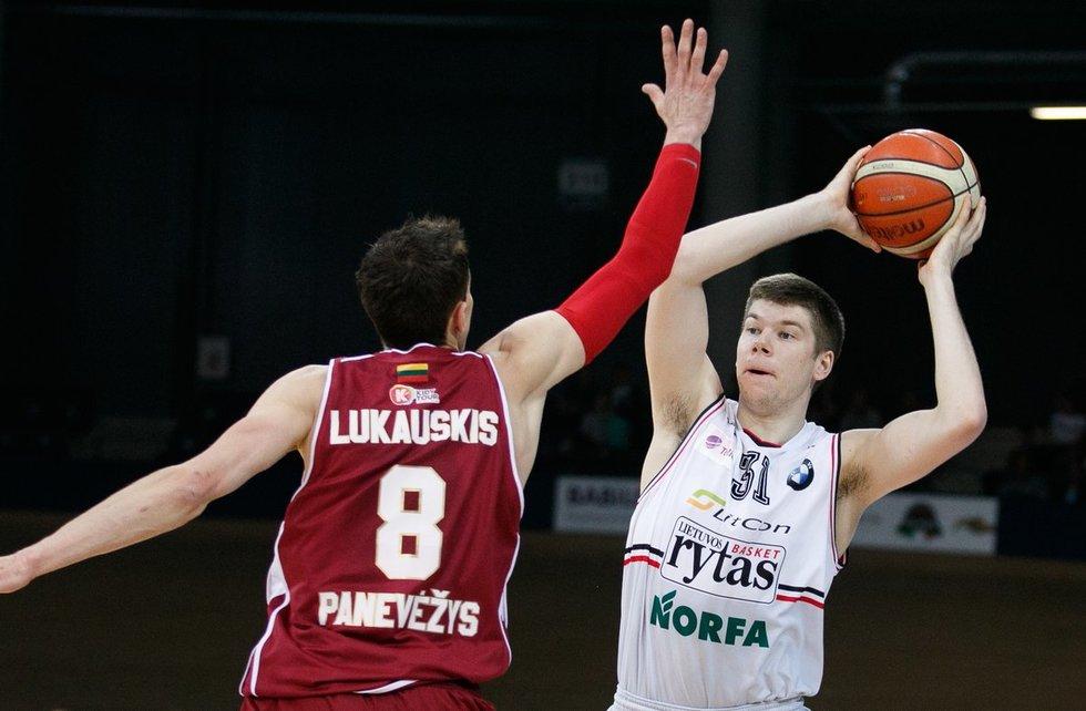 """LKL pusfinalis: """"Lietkabelis"""" – """"Lietuvos rytas"""" (nuotr. Tv3.lt/Ruslano Kondratjevo)"""