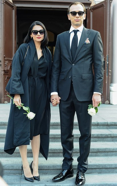 Agnė Jagelavičiūtė su vyru Mantu Volkumi (nuotr. Eimanto Genio)