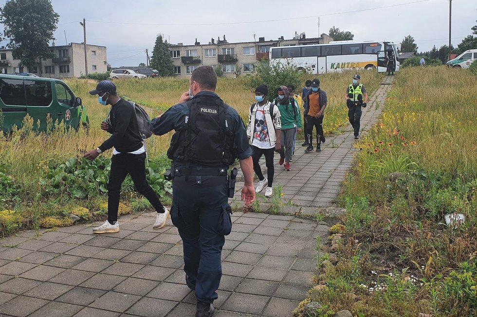 Nelegalūs migrantai Varėnos rajone