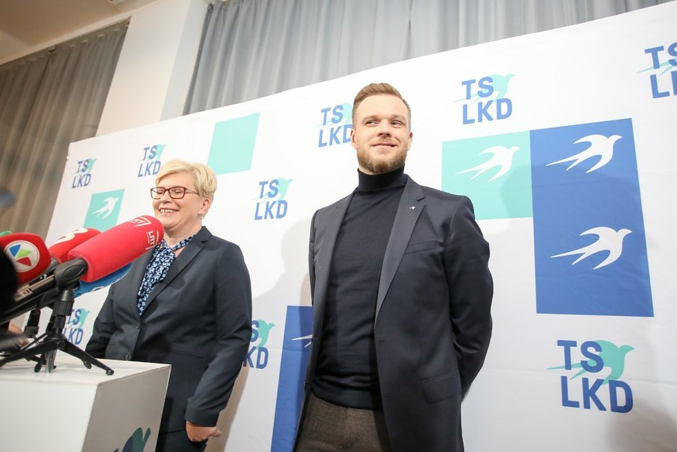 Ingrida Šimonytė ir Gabrielius Landsbergis (nuotr. Fotodiena/Justino Auškelio)