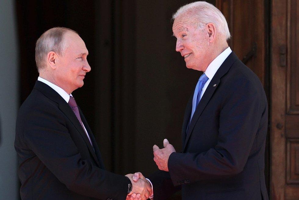 Vladimiras Putinas ir Joe Biden (nuotr. SCANPIX)