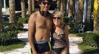 Iris Jones ir jos 45 metais jaunesnis mylimasis (nuotr. facebook.com)