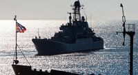 Į Siriją nebeplauks: Rusijos didyjį desantinį laivą sustabdė variklio gedimas (nuotr. SCANPIX)
