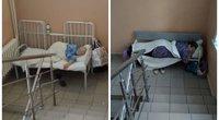 Covid-19 pacientus guldo laiptinėse: Rusijoje ligoninės nesusitvarko su srautais (nuotr. VK.com)