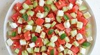 Salotos su arbūzu ir feta (Nuotr. Rasos virtuvės užrašai)