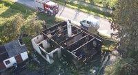 Šiaulių rajone gaisre žuvo moteris: nelaimę sukėlė nuolatinis rūkymas lovoje (nuotr. stop kadras)