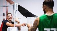 Žalgiriečiai atliko fizinius testus prieš pirmąją sezono treniruotę. (nuotr. zalgiris.lt)