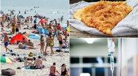 Specialistė pasakė, kodėl čeburekų valgymas prie jūros gali sugadinti atostogas (tv3.lt fotomontažas)